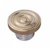 Motone Custom Fuel Gas Cap - Brass Rippled Top - Aluminium Thread - Rippled