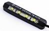 4-LED-Nummernschildbeleuchtung, biegsam, schwarz, 61 x 13,5 x 6mm, selbstklebende Folie, E-geprüft